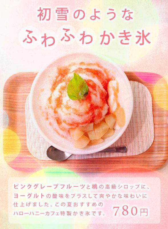 今年もハローハニーカフェ特製「かき氷」スタート!