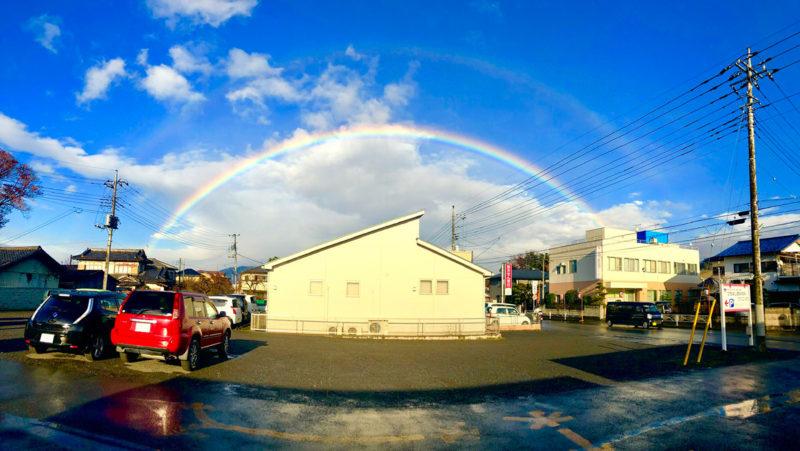 幸運の二重の虹が見れました